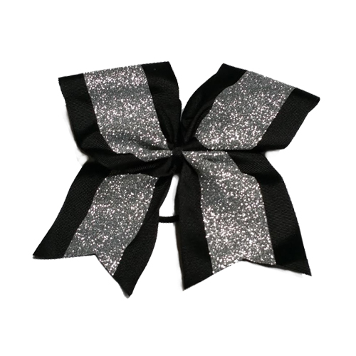 Silver and Black Hair Bow