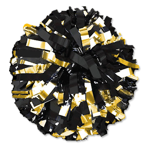 Gold and Silver Cheerleading Pom Poms