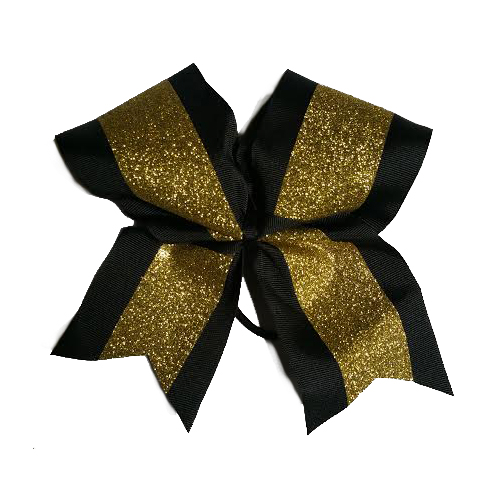 Gold and Black Hair Bow
